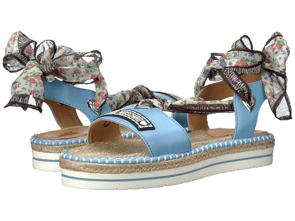 LOVE Moschino Scarf Sandal (Light Blue) Women