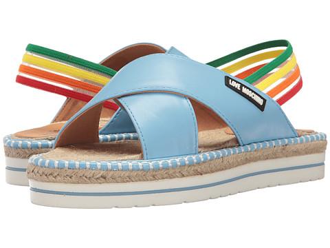 LOVE Moschino Rainbow Strap Sandal
