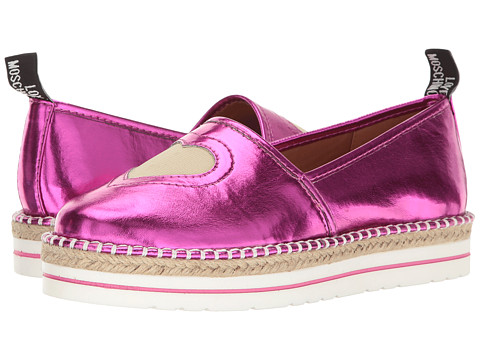 LOVE Moschino Metallic Heart Espadrille