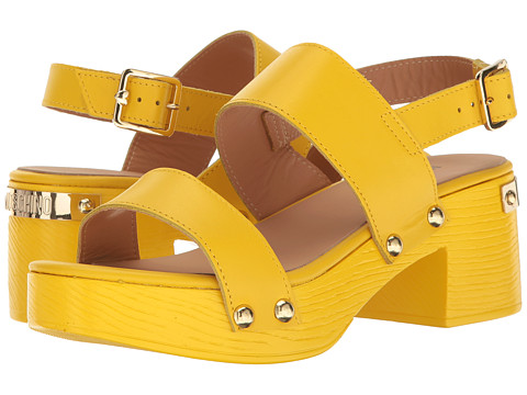 LOVE Moschino Chunky Wooden Sandal