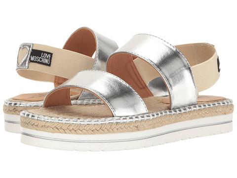 LOVE Moschino Metallic Sandal Espadrille
