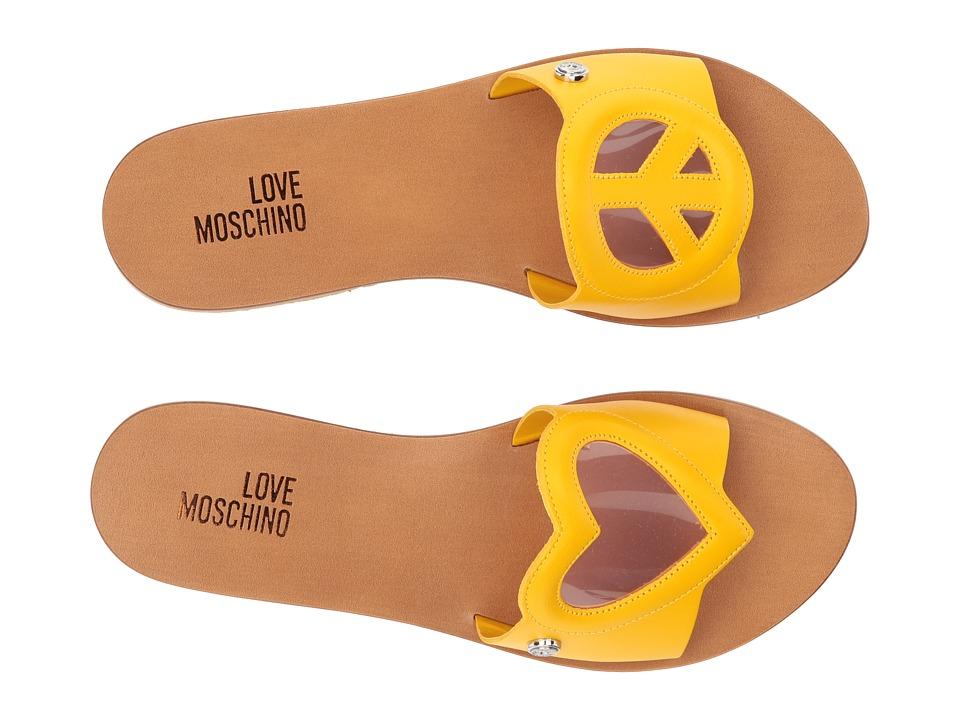 LOVE Moschino Heart/Peace Sandal (Yellow/Pink) Women