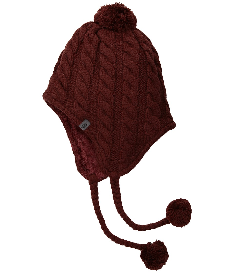 The North Face - Fuzzy Earflap Beanie (Barolo Red) Beanies