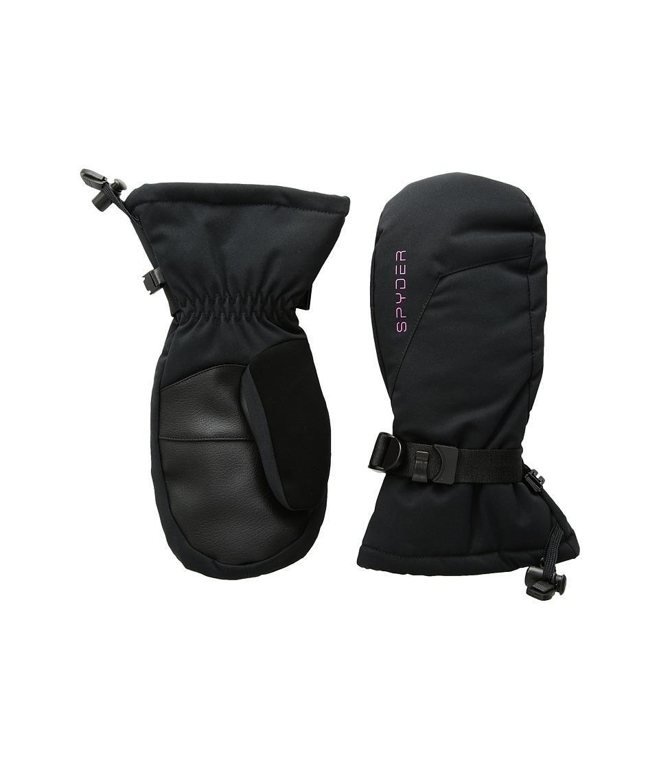 Spyder Essential Ski Mitten (Big Kids) (Black) Ski Gloves
