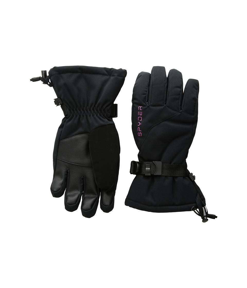 Spyder Essential Ski Gloves (Big Kids) (Black) Ski Gloves