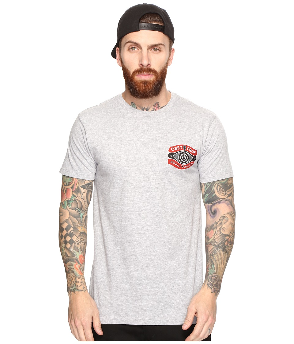 Obey Retinal Delivery Tee (Heather Grey) Men