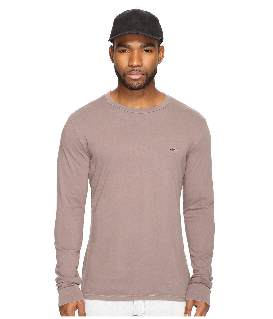 Obey Jumble Long Sleeve Pigment Tee (Iron) Men