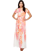 Vince Camuto - Printed Chiffon Maxi with Ruffle Bodice