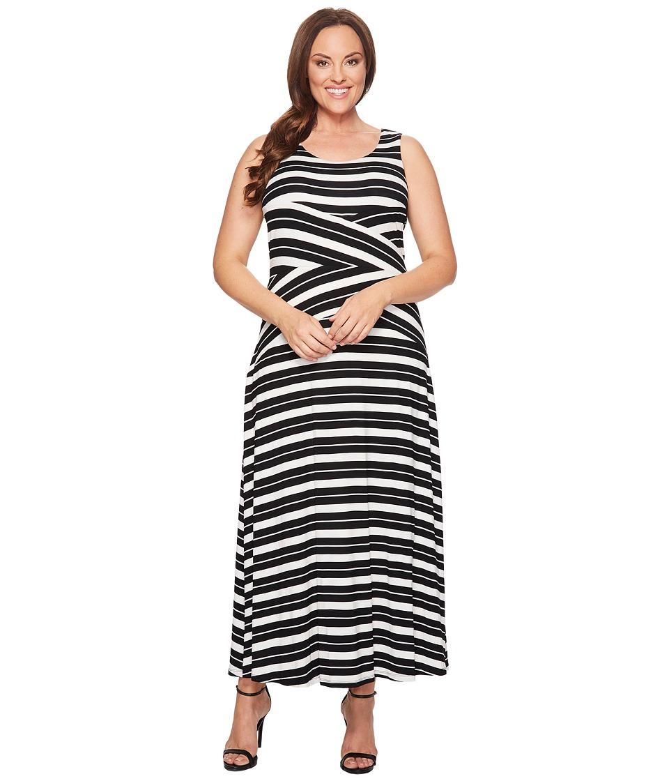 Calvin Klein Plus - Plus Size Striped Crisscross Maxi Dress