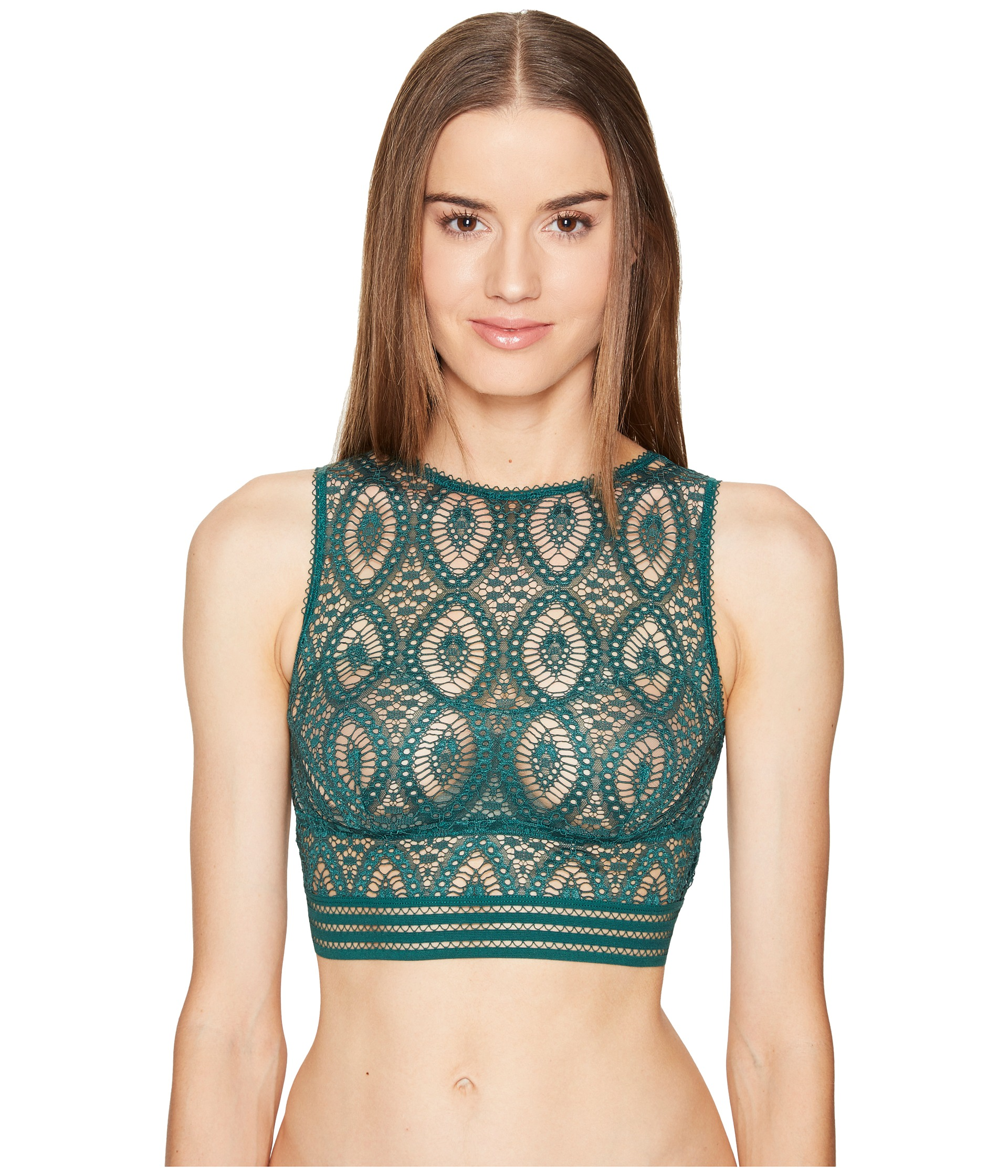 ELSE Baroque Cropped Tank Underwire Bra Top