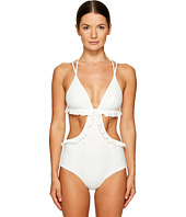 Jonathan Simkhai - Cut Out Ruffled One-Piece