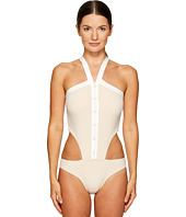 Jonathan Simkhai - Collared Oxford One-Piece