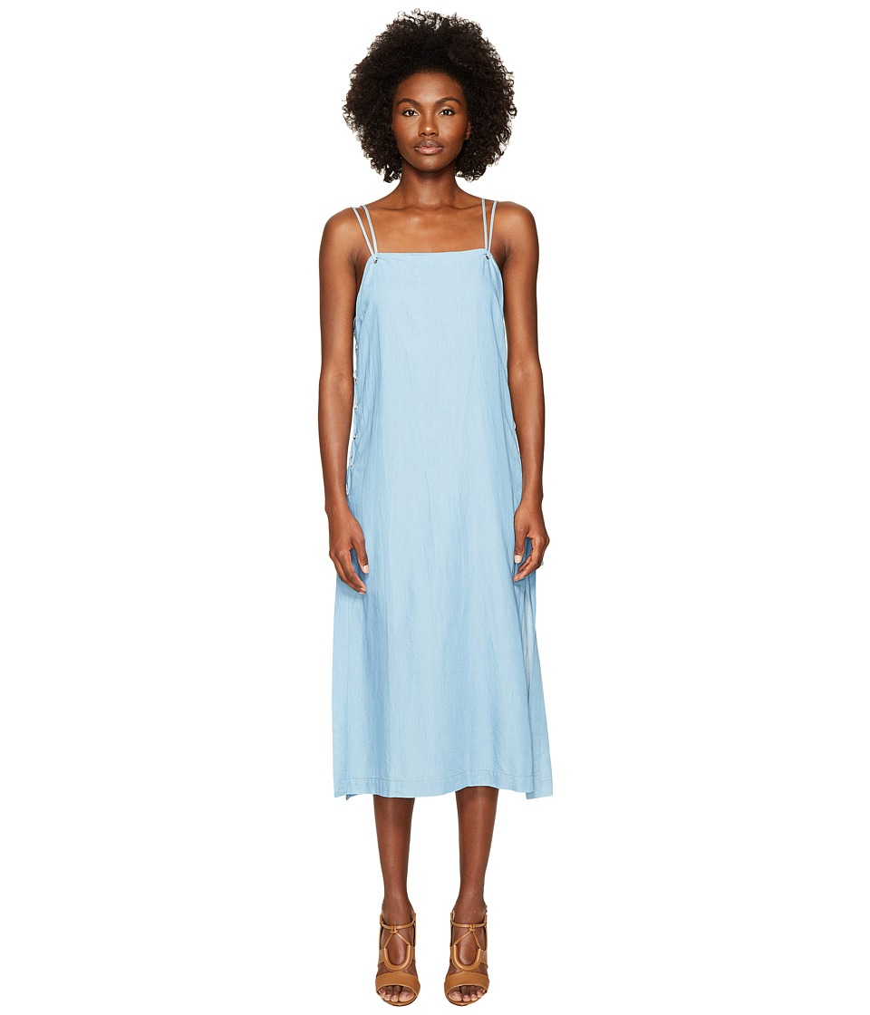 Jonathan Simkhai - Chambray Denim Lace-Up Maxi Dress Cover