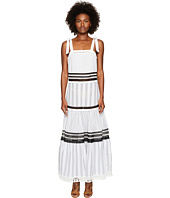 Jonathan Simkhai - Mixed Voile Tie Layered Maxi Cover-Up