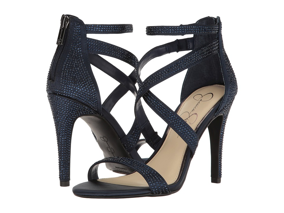 Jessica Simpson Emilyn (Navy Crystal Satin) Women