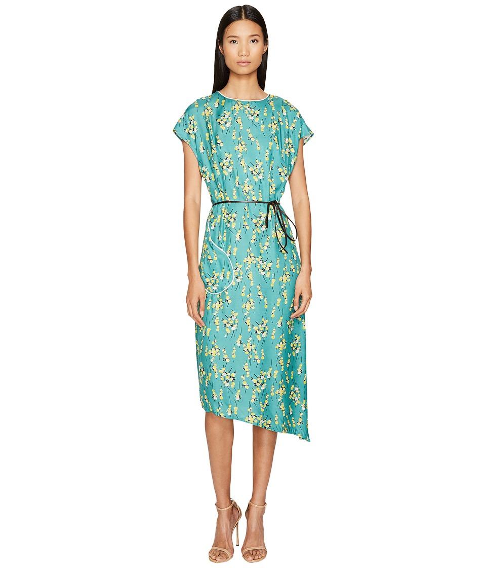 Sonia by Sonia Rykiel - Roses Print Maxi Dress with Belt