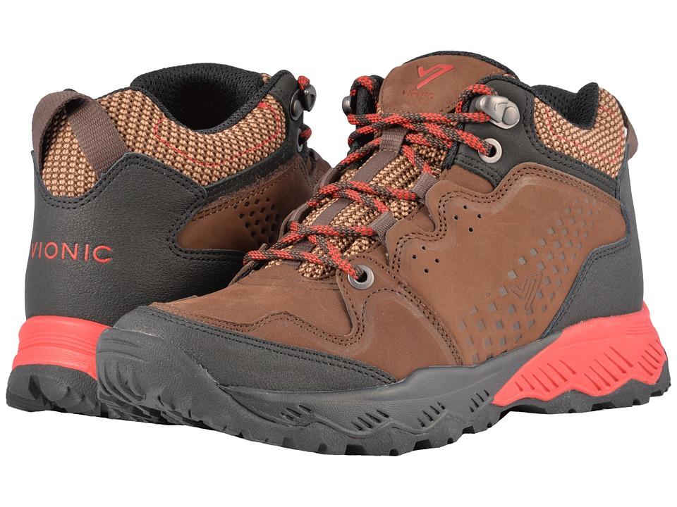 VIONIC Everett High-Top Trail Walker (Brown/Red) Women