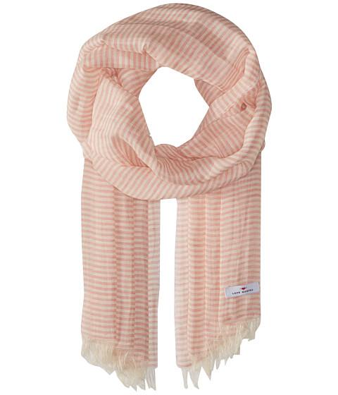 Love Quotes Linen Cotton Narrow Stripe - Blush/White