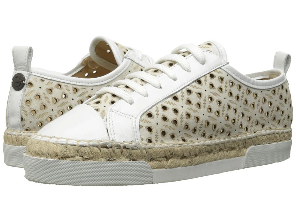 Sonia by Sonia Rykiel Perforated Velvet Sneaker (White) Women