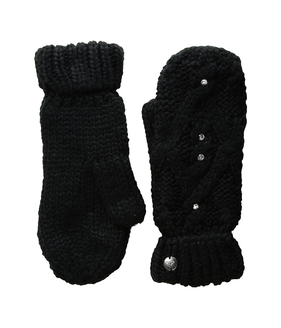 Roxy Shooting Star Mittens (True Black) Extreme Cold Weather Gloves