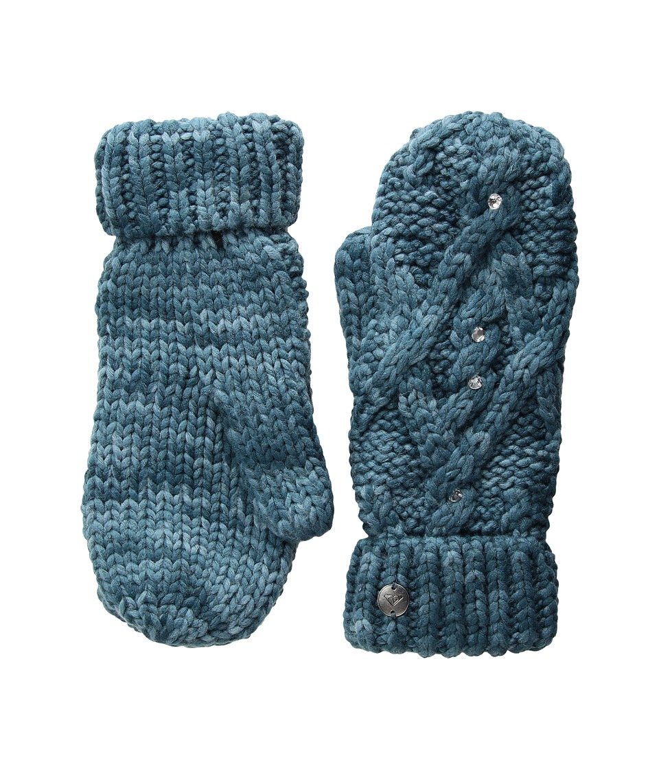 Roxy Shooting Star Mittens (Ink Blue) Extreme Cold Weather Gloves