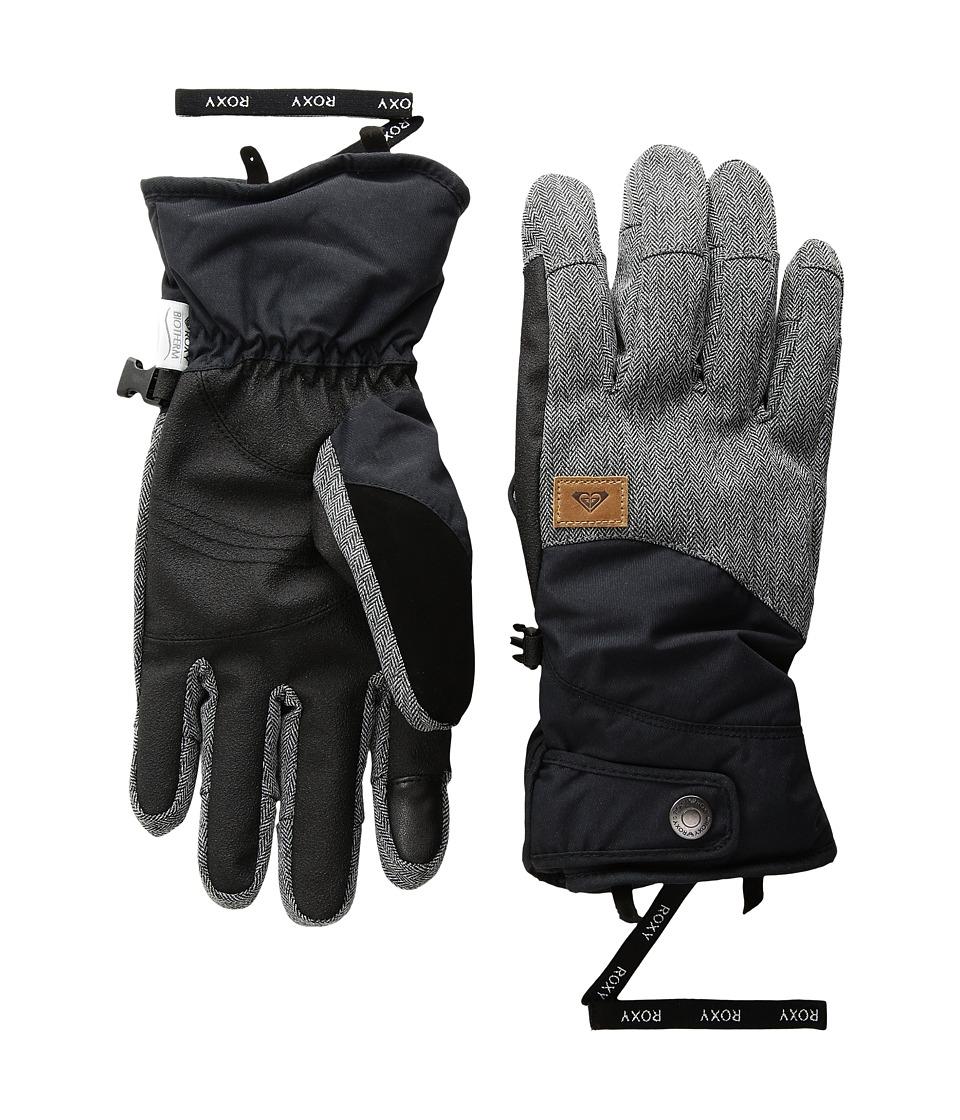 Roxy Vermont Gloves (True Black) Extreme Cold Weather Gloves