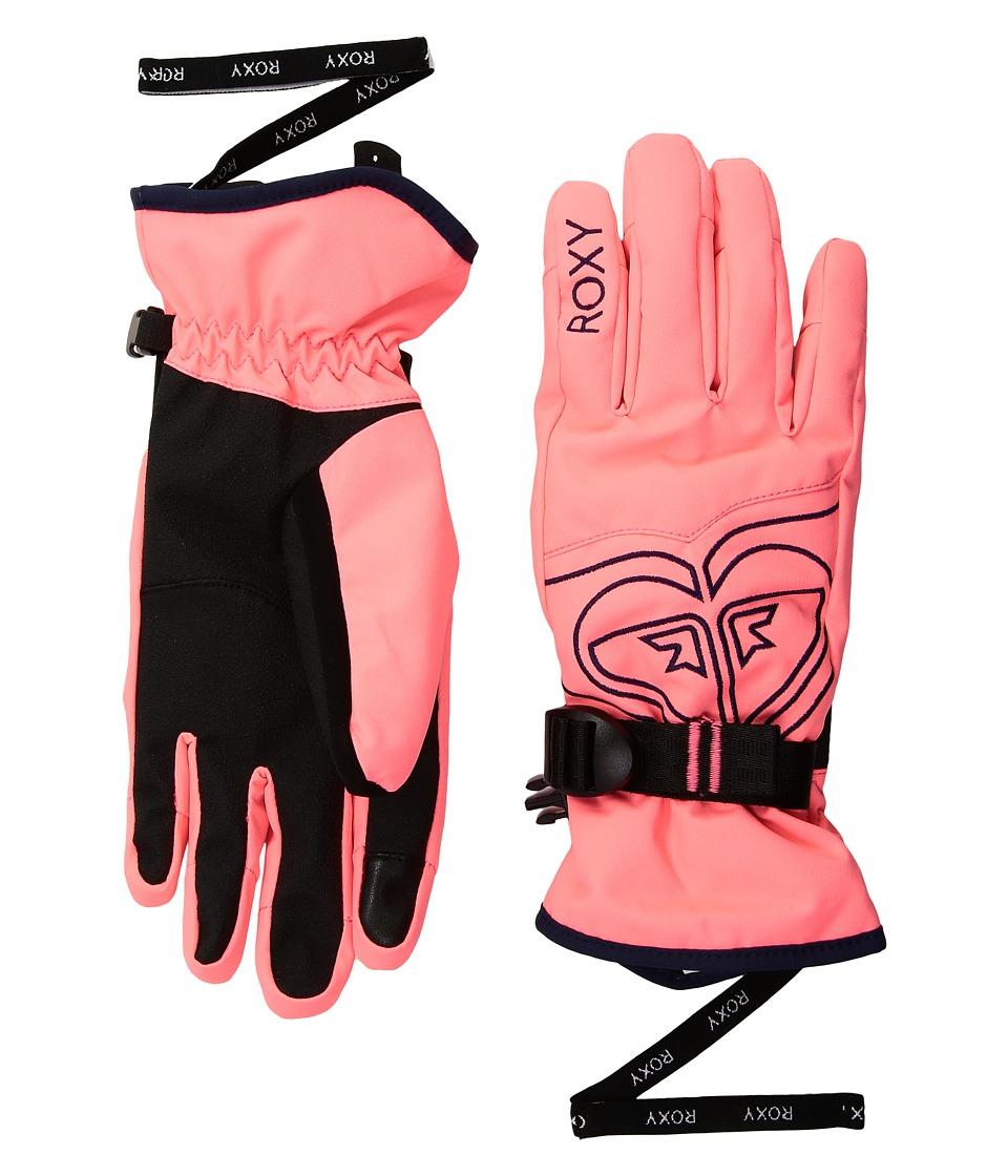 Roxy Poppy Gloves (Neon Grapefruit) Extreme Cold Weather Gloves