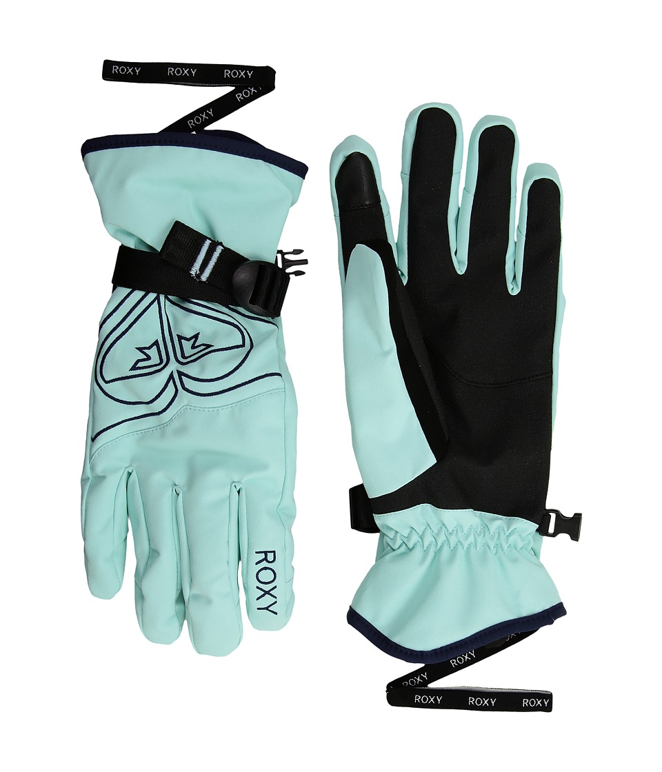 Roxy Poppy Gloves (Aruba Blue) Extreme Cold Weather Gloves