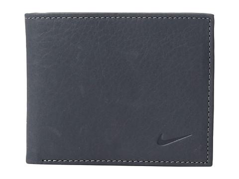 Nike Pebble Grain Leather Pass Case - Dark Grey