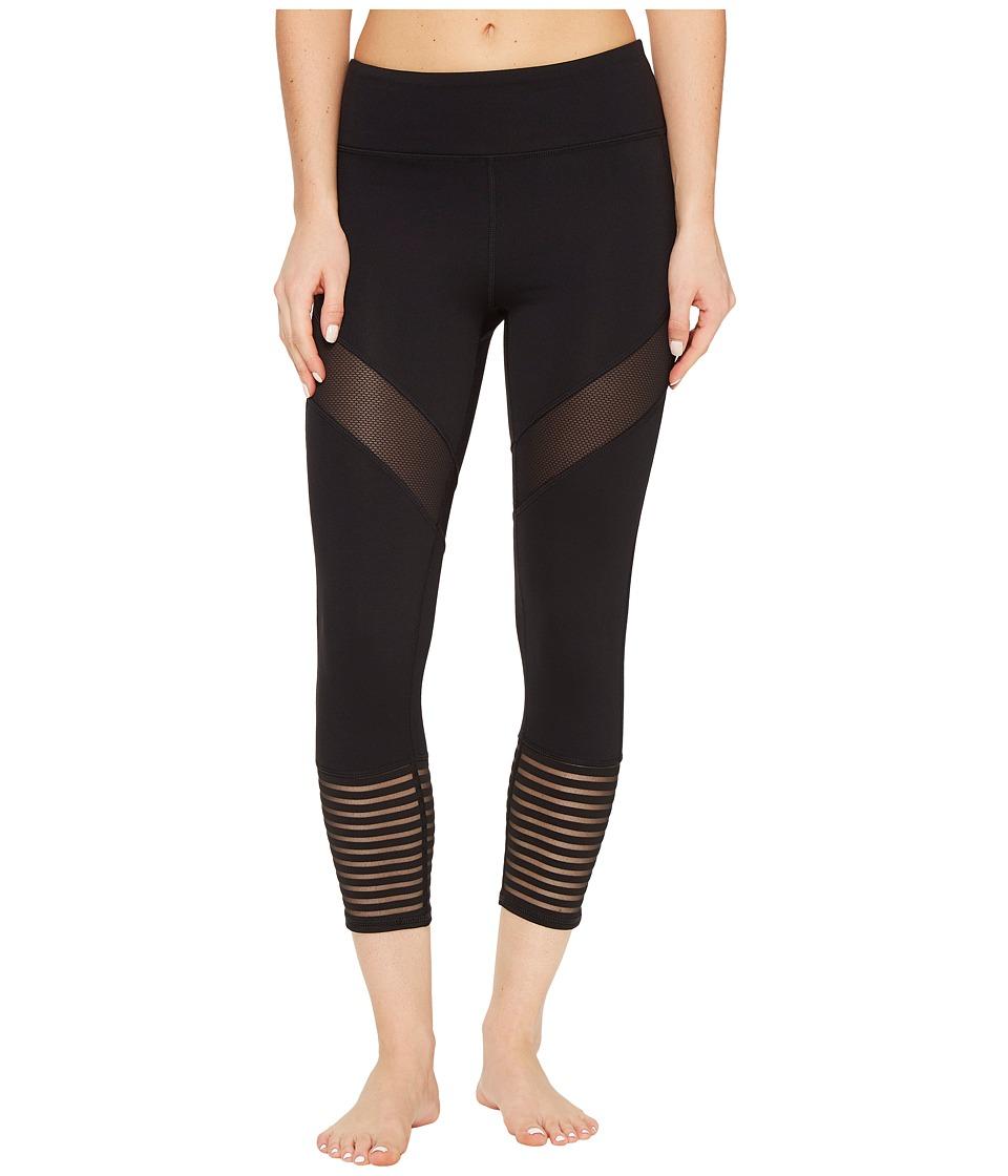 Threads 4 Thought - Leena Cropped Leggings (Jet Black) Wo...
