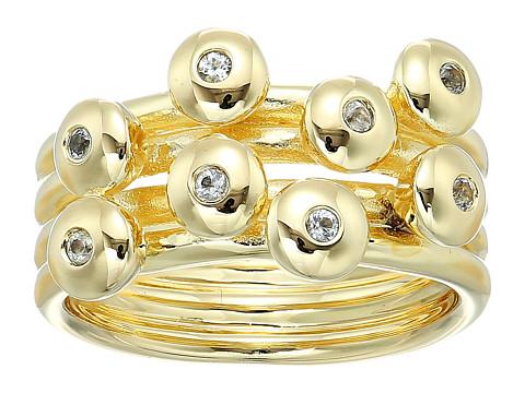Elizabeth and James Raina Ring - Yellow Gold/White Topaz