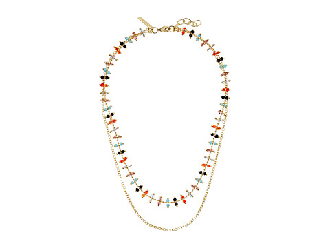 Elizabeth and James Marie Necklace - Yellow Gold/White Topaz