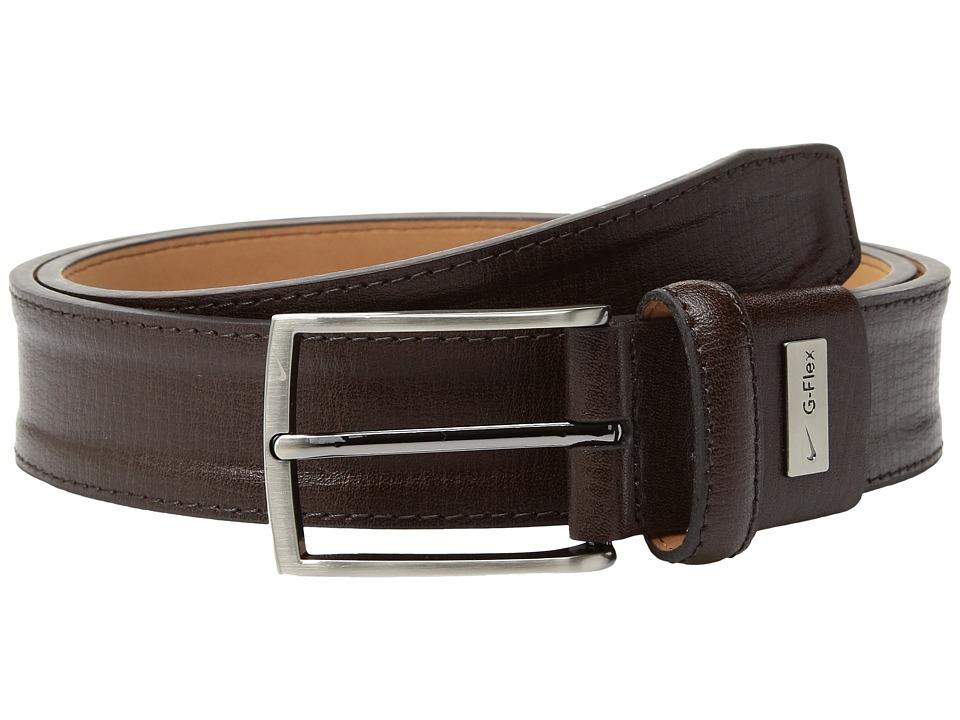 Nike Trapunto G-Flex (Brown) Men's Belts