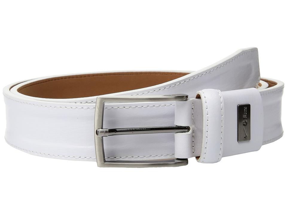 Nike Trapunto G-Flex (White) Men's Belts