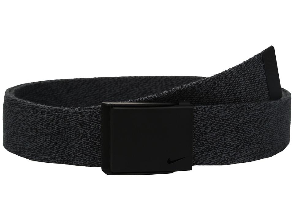 Nike - Heather Web (Dark Grey/Black) Men's Belts