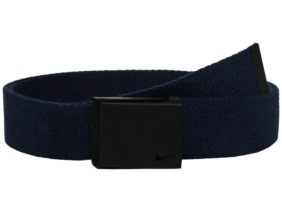 Nike - Heather Web (College Navy/Black) Men's Belts
