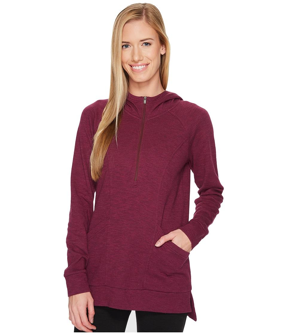 Lucy OM 1/2 Zip Pullover (Grape Wine Heather) Women