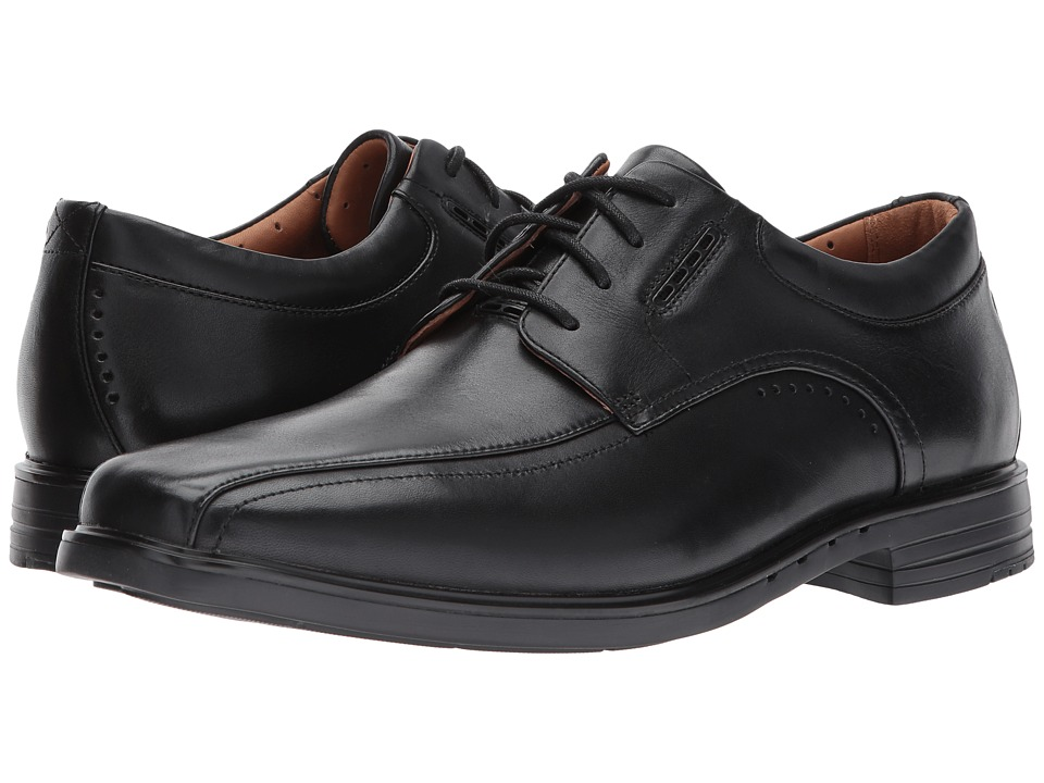 Clarks - UnKenneth Way (Black Leather) Mens Lace Up Wing Tip Shoes