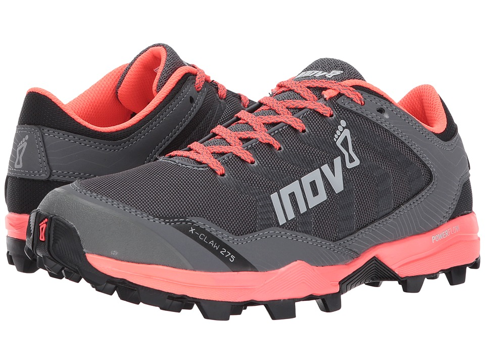 inov-8 - X-Claw 275 (Grey/Coral) Womens Running Shoes