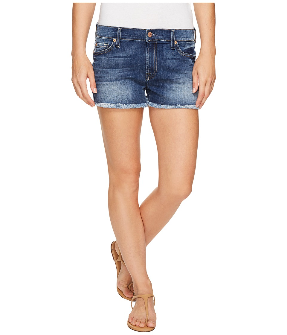 7 For All Mankind - Cut Off Shorts in Rich Coastal Blue