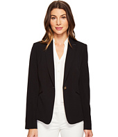 Tahari by ASL - Bi Stretch One-Button Jacket w/ Contrast Collar