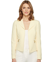 Tahari by ASL - Crepe Open Jacket w/ Zipper Pockets