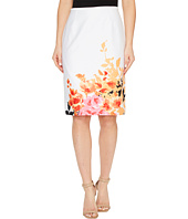 Tahari by ASL - Printed Poplin Pencil Skirt