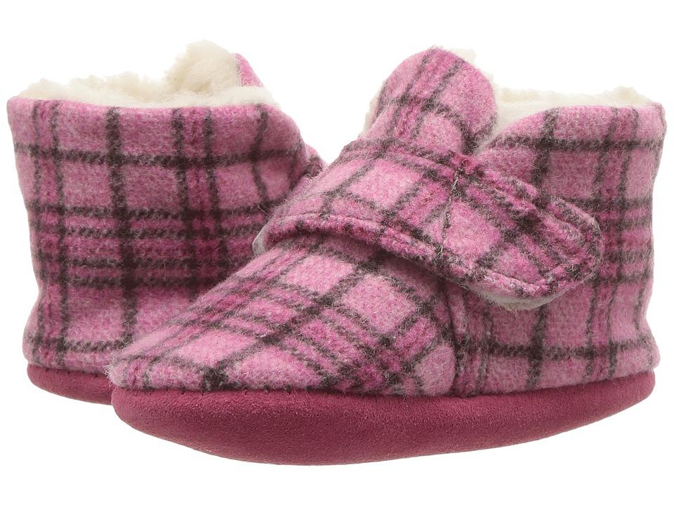 Minnetonka Kids - Sawyer Bootie (Infant/Toddler) (Pink Plaid) Girls Shoes
