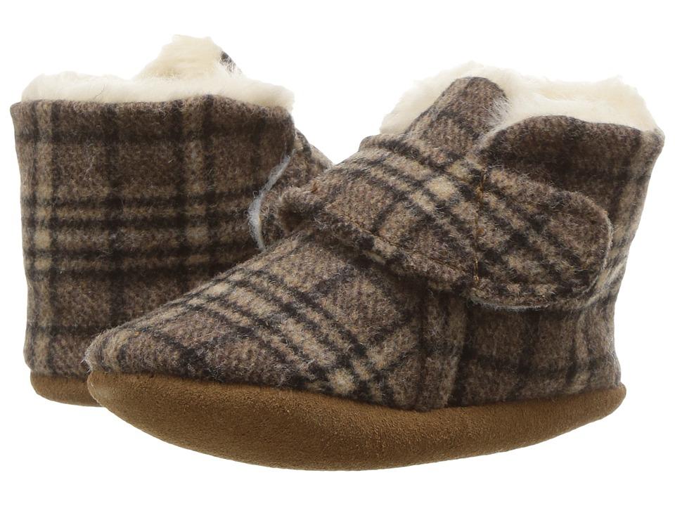 Minnetonka Kids - Sawyer Bootie (Infant/Toddler) (Brown Plaid) Kids Shoes