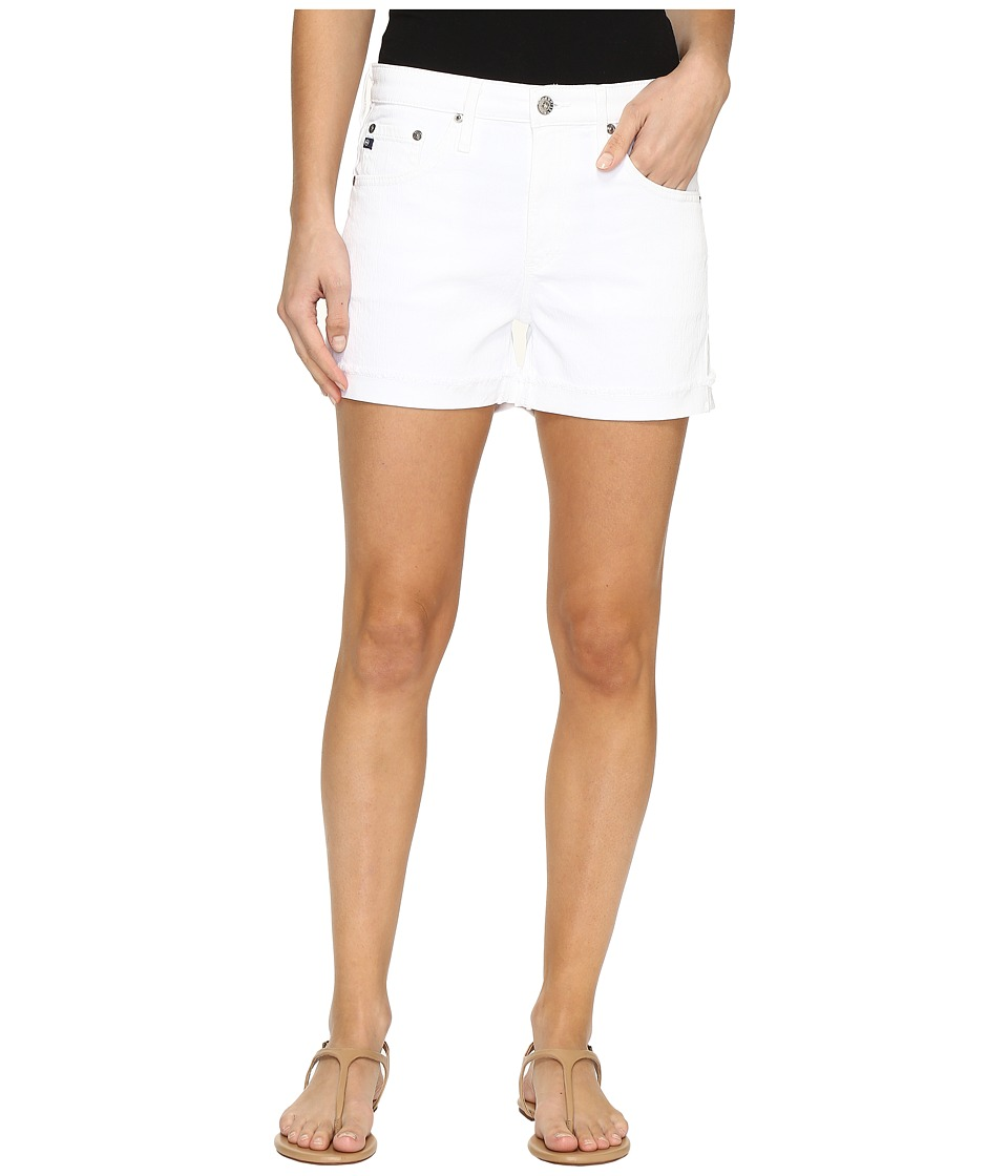 AG Adriano Goldschmied - Hailey Boyfriend Shorts in White (White) Womens Shorts