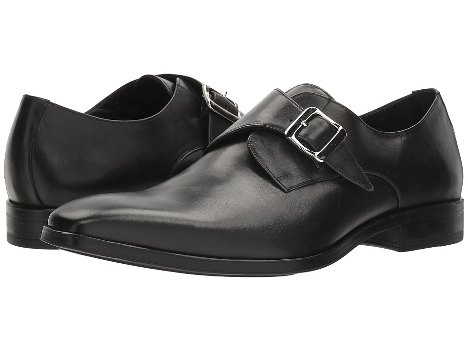 60s Mens Shoes | 70s Mens shoes – Platforms, Boots Massimo Matteo - Single Monk Classic Black Mens Monkstrap Shoes $99.00 AT vintagedancer.com