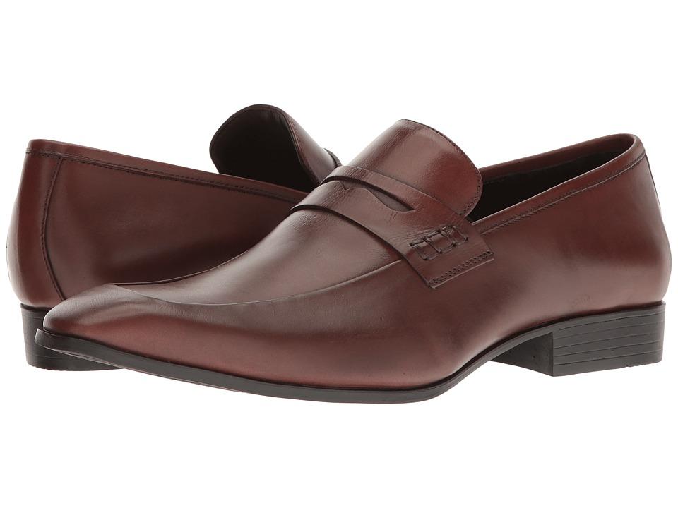 Mens Vintage Style Shoes| Retro Classic Shoes Massimo Matteo - Penny Classic Black Mens Slip-on Dress Shoes $99.00 AT vintagedancer.com