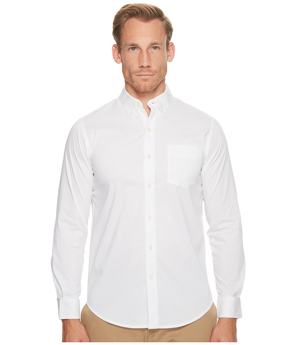 Dockers - Long Sleeve Stretch Woven Shirt (Paper White) Mens Clothing
