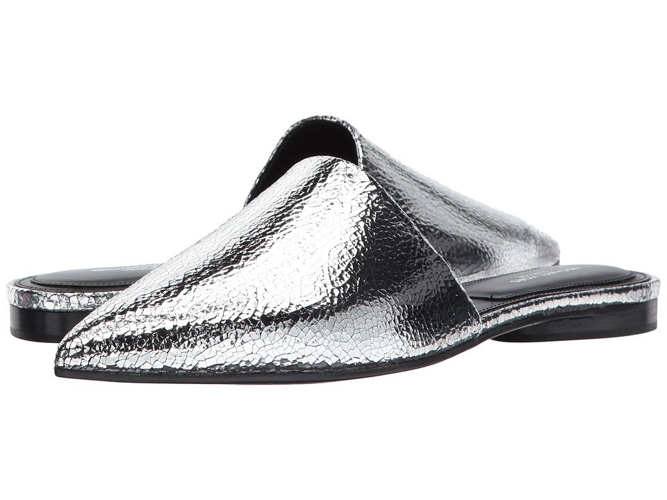Michael Kors Darla (Silver Cracked Metallic Leather) Women